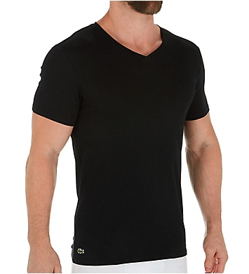 Lacoste Essential 100% Cotton V-Neck T-Shirts - 3 Pack