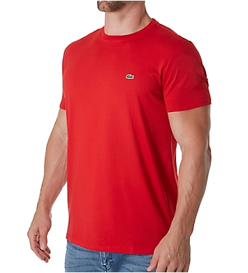 Lacoste Pima Short Sleeve Crew Neck T-Shirt