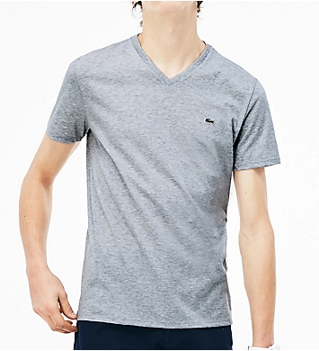 Lacoste Pima Short Sleeve V-Neck T-Shirt