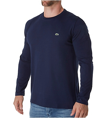 Lacoste Pima Long Sleeve Crew Neck T-Shirt