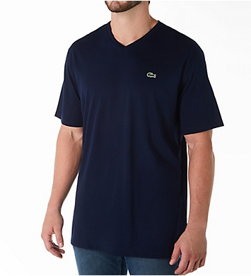 Lacoste Big and Tall Cotton V-Neck T-Shirt