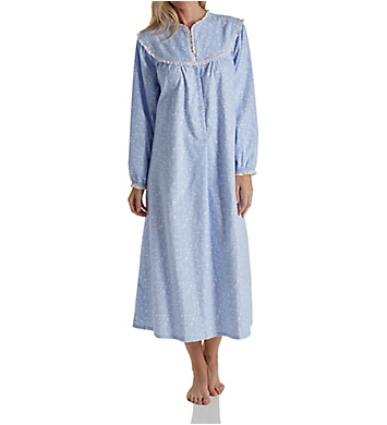 Lanz of Salzburg Long Sleeve Flannel Gown