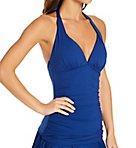 Lauren Essentials Slimming Halter Tankini Swim Top