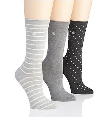 Lauren Ralph Lauren Assorted Roll Top Trouser Sock - 3 Pair Pack