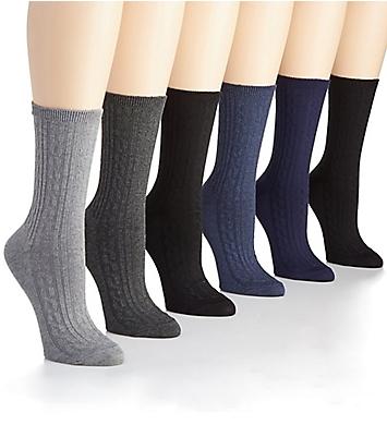 Lauren Ralph Lauren Cable Texture Trouser Sock - 6 Pair Pack