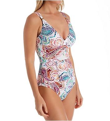 Lauren Ralph Lauren Captiva Paisley Underwire One Piece Swimsuit