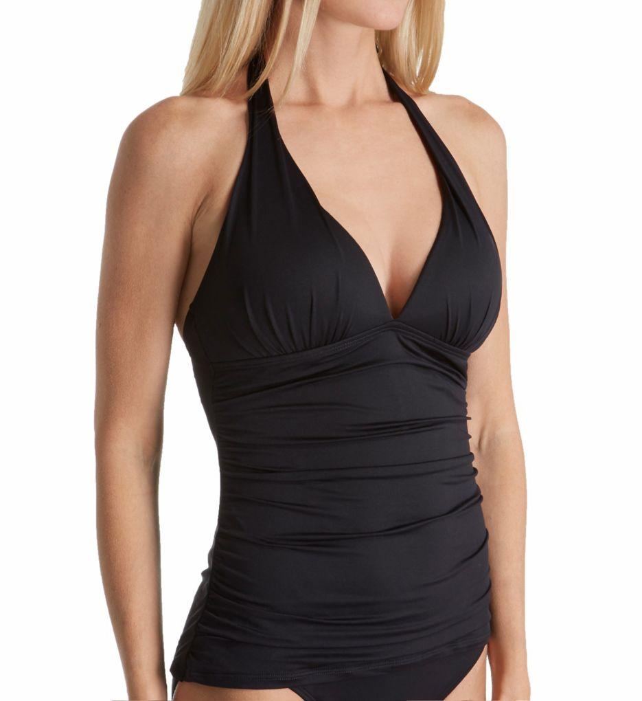 Lauren Ralph Lauren Beach Club Slimming Halter Tankini Swim Top