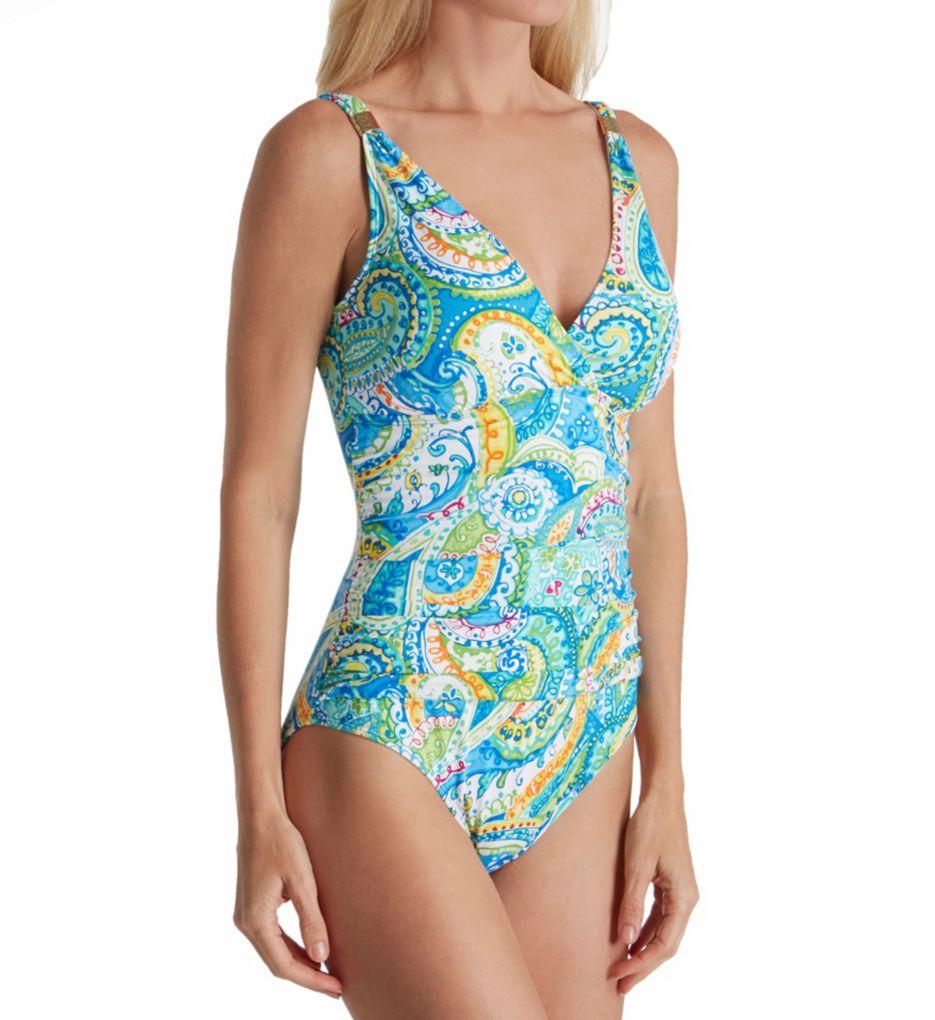Lauren Ralph Lauren Carnivale Paisley Underwire Mio One Piece Swimsuit