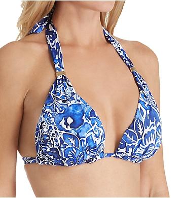 Lauren Ralph Lauren Playa Floral Halter Bikini Swim Top