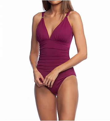 c9df8d067b927 Lauren Ralph Lauren Beach Club Solids Slimming One Piece Swimsuit ...