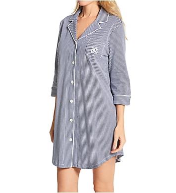 Lauren Ralph Lauren Sleepwear Heritage Knits 3/4 Sleeve Classic Sleepshirt