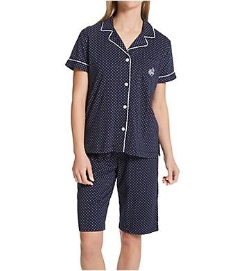 photos officielles 263b6 38064 Lauren Ralph Lauren Sleepwear Short Sleeve Notch Collar Bermuda PJ Set  816702