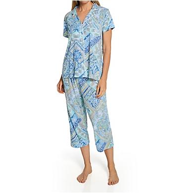 Lauren Ralph Lauren Sleepwear Classic Knits Capri Pant PJ Set