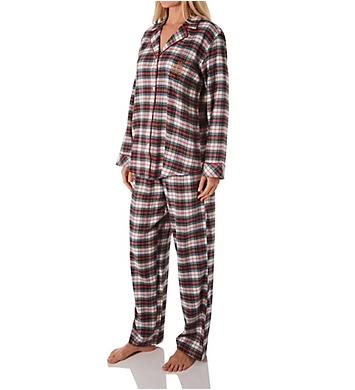 Lauren Ralph Lauren Sleepwear Classic Button Front PJ Set