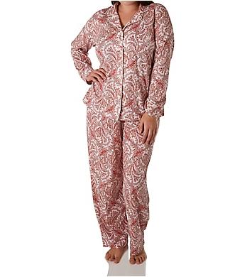 Lauren Ralph Lauren Sleepwear Classic Knits Long Sleeve Notch Collar PJ Set