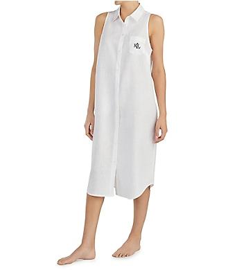 Lauren Ralph Lauren Sleepwear Fashion Woven Sleeveless Ballet Sleepshirt