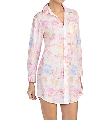 Lauren Ralph Lauren Sleepwear Southern Belle 3/4 Sleeve Notch Collar Sleepshirt