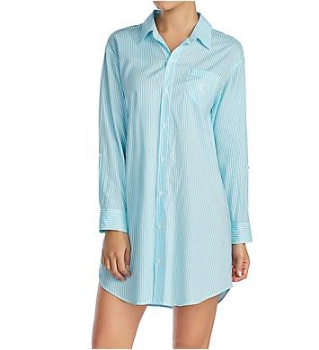 Lauren Ralph Lauren Sleepwear Classic Woven Long Sleeve Roll Tab Sleepshirt