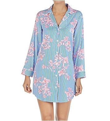 dbd982264bc Lauren Ralph Lauren Sleepwear Classic Sateen Long Sleeve Notch Collar  Sleepshirt