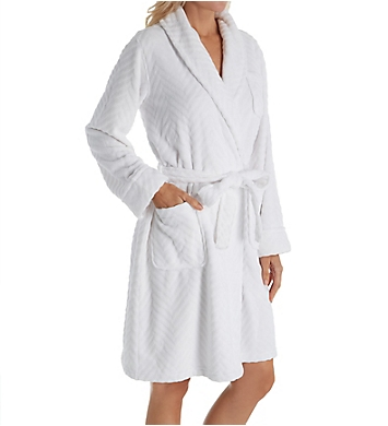 Lauren Ralph Lauren Sleepwear Fleece Short Shawl Collar Robe