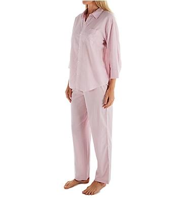 Lauren Ralph Lauren Sleepwear Classic Woven 3/4 Sleeve PJ Set