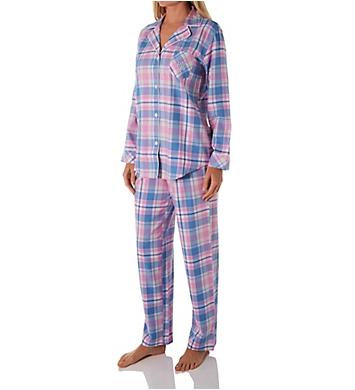 Lauren Ralph Lauren Sleepwear Classic Notch Collar Woven PJ Set
