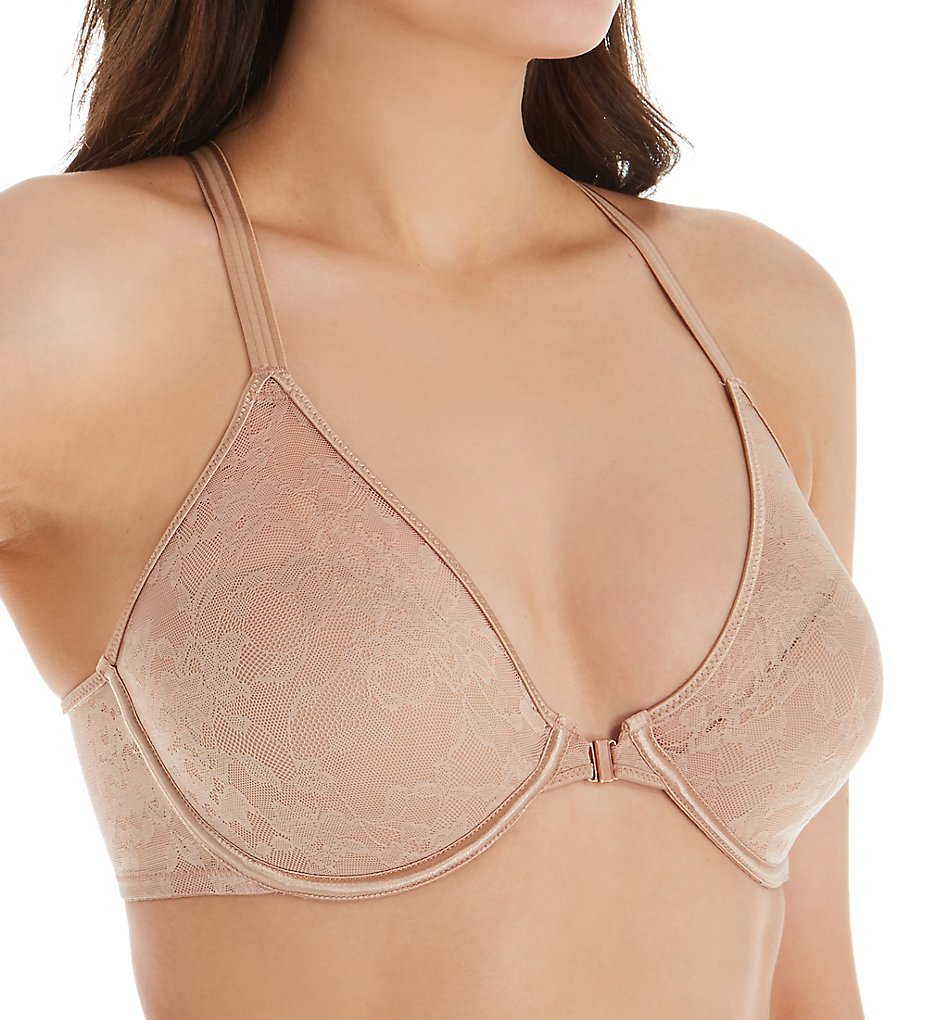 Le Mystere 4415 Lace Perfection Convertible Racerback Bra (Natural)