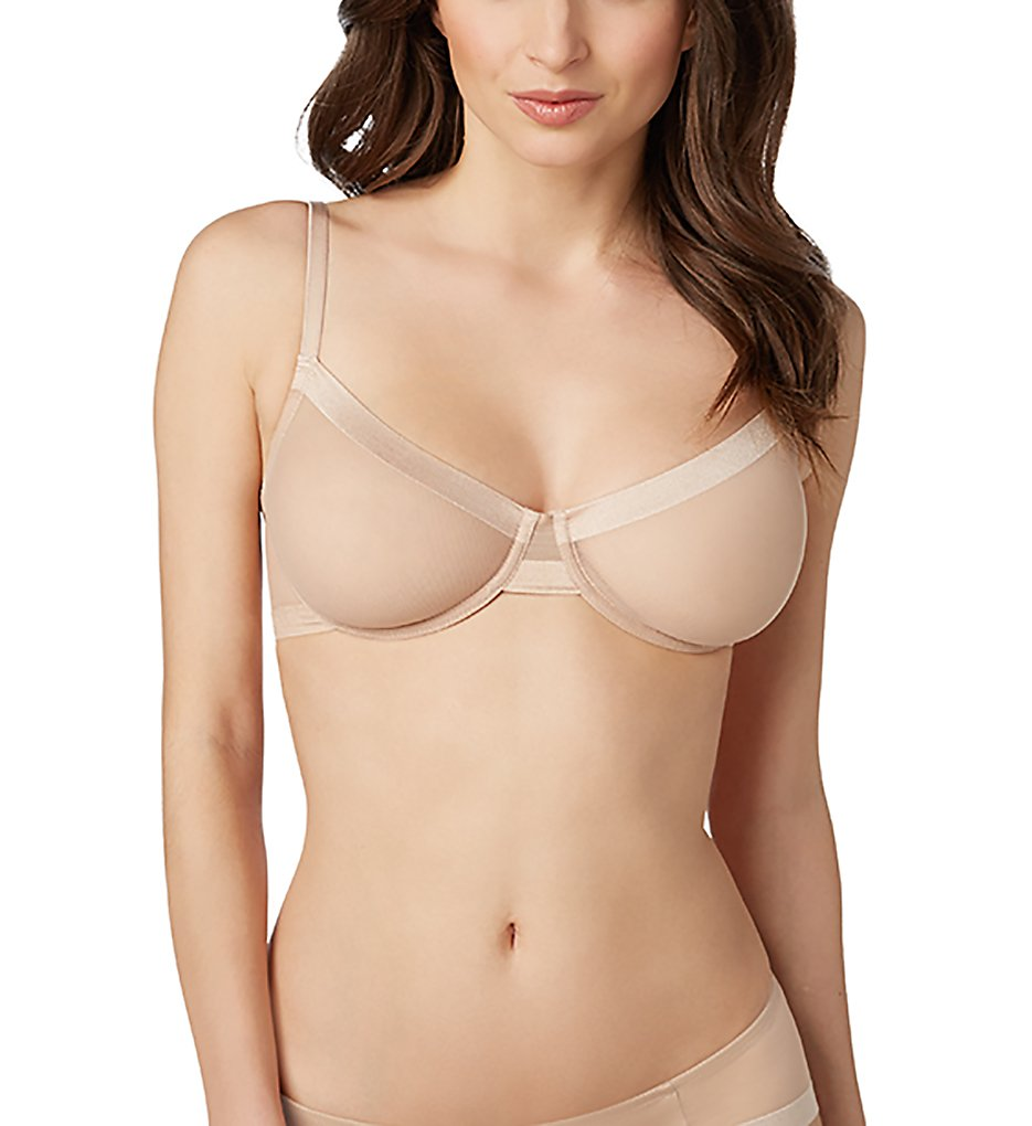Le Mystere >> Le Mystere 4424 Infinite Sheer Unlined Underwire Bra (Natural 32E)