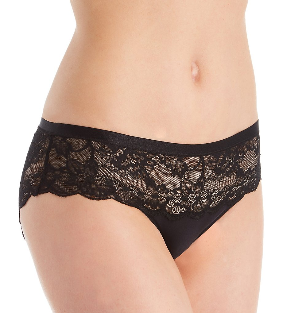 Le Mystere - Le Mystere 5111 Light Luxury Lace Bikini Panty (Black S)