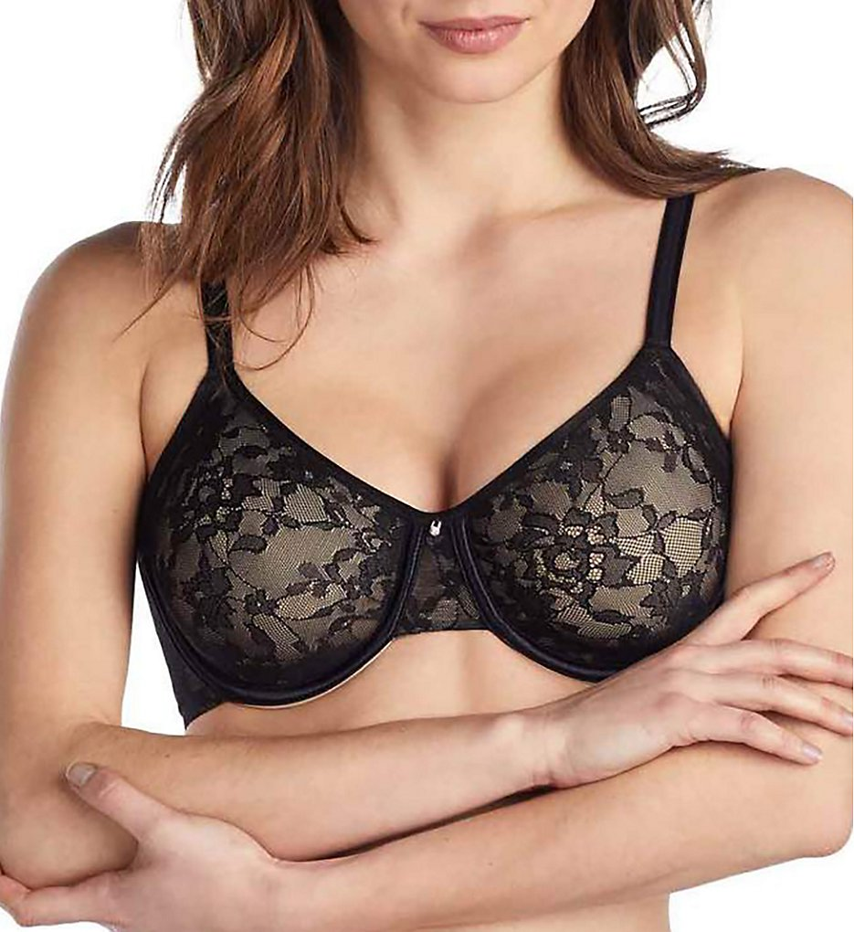 Le Mystere - Le Mystere 7715 Lace Perfection Unlined Bra (Black 32G)