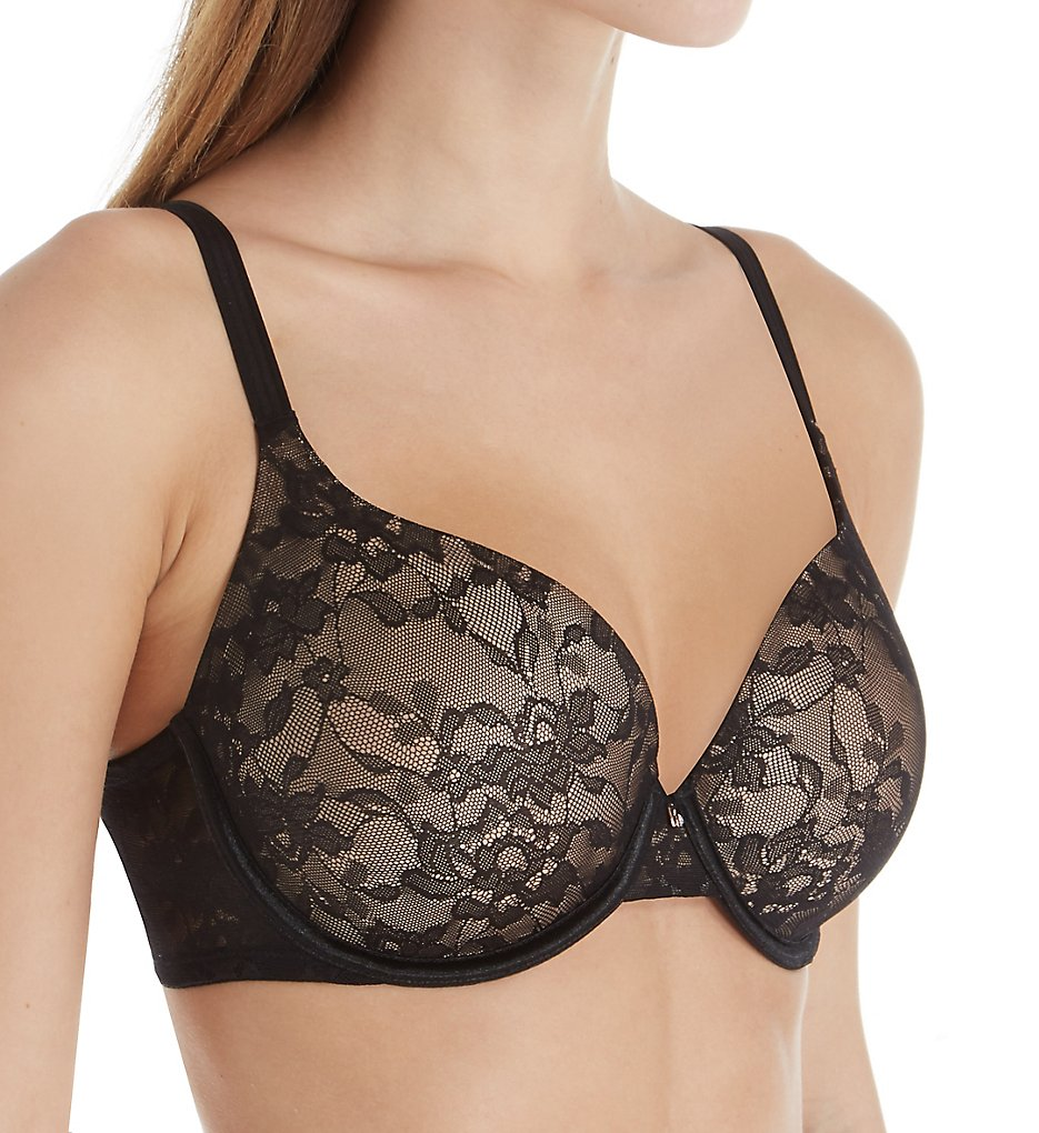 Le Mystere - Le Mystere 8815 Lace Perfection Memory Foam T-Shirt Bra (Black 32G)