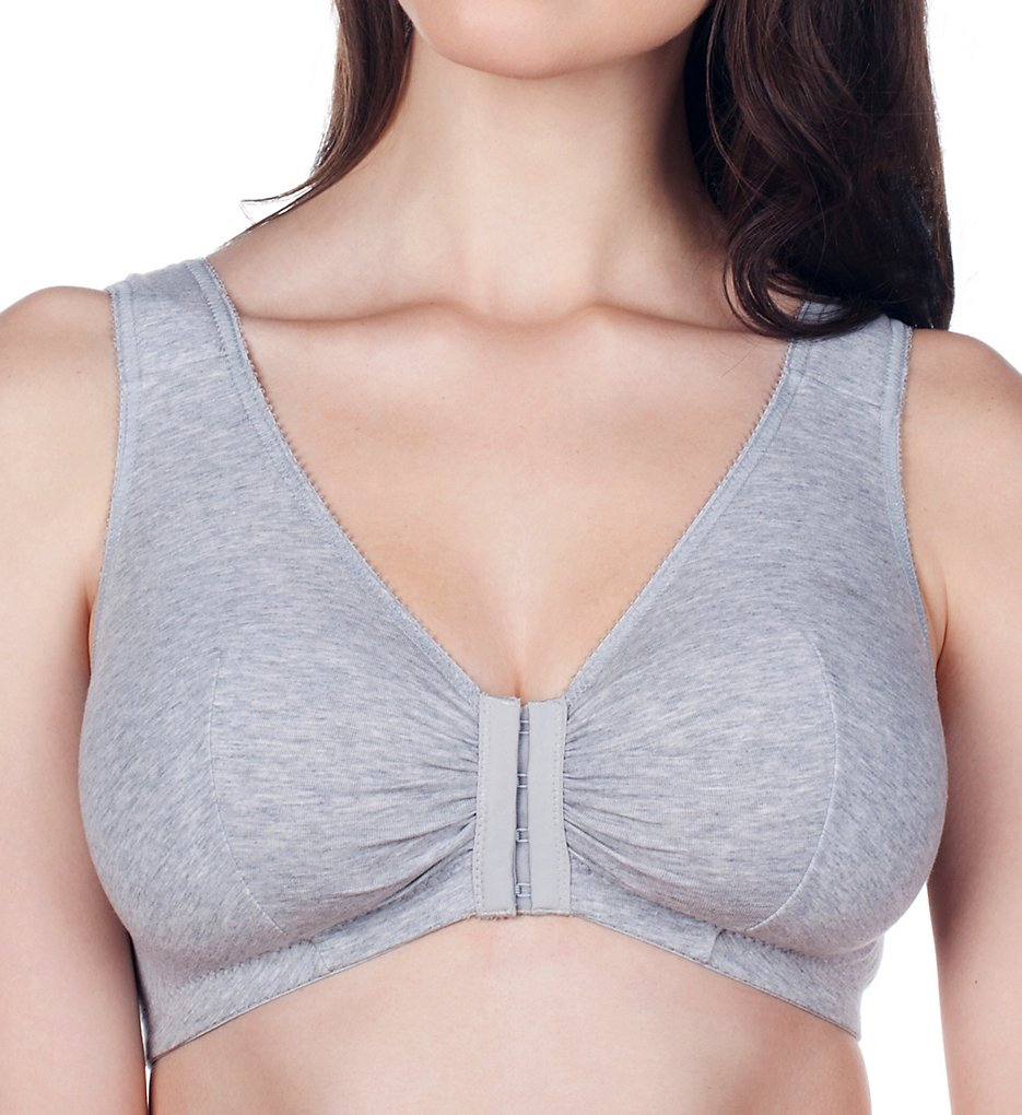 Leading Lady (1020929) - Leading Lady 110 Front Close Sleep & Leisure Bra (Grey 34C/D/E)