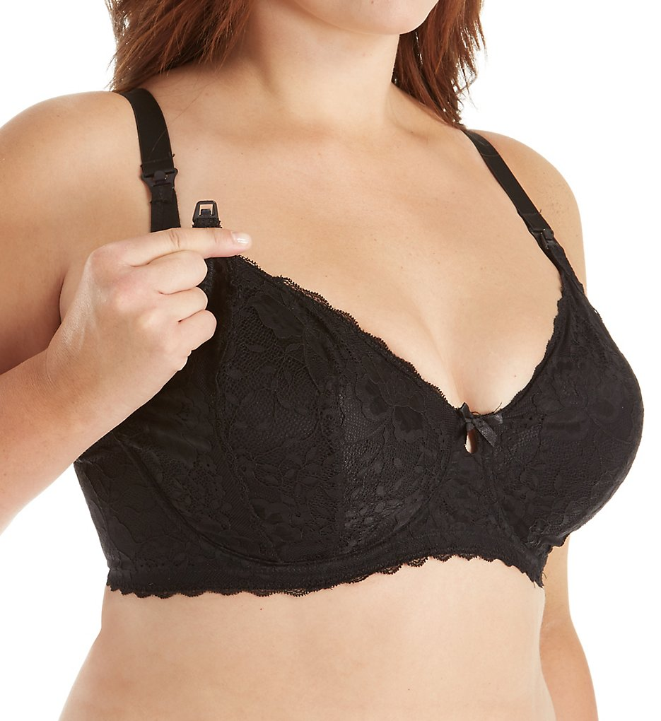 Leading Lady - Leading Lady 4053 Dreamy Comfort 3 Part Cup Nursing Bra (Black 32C)