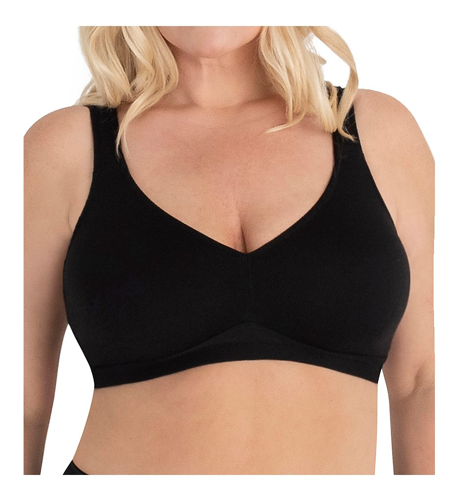 Leading Lady - Leading Lady 5006 Dreamy Comfort Every-Day Wirefree Bra (Black 38A)