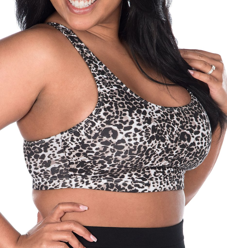 Leading Lady 514 Sports Bra (White Leopard)