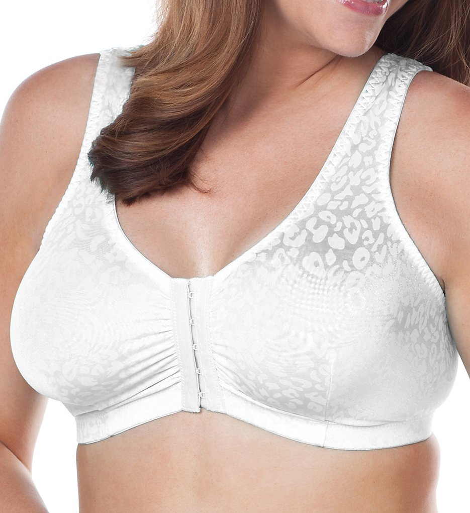 Leading Lady : Leading Lady 5420 Front Closure Sleep and Leisure Bra (White 38 B/C/D)