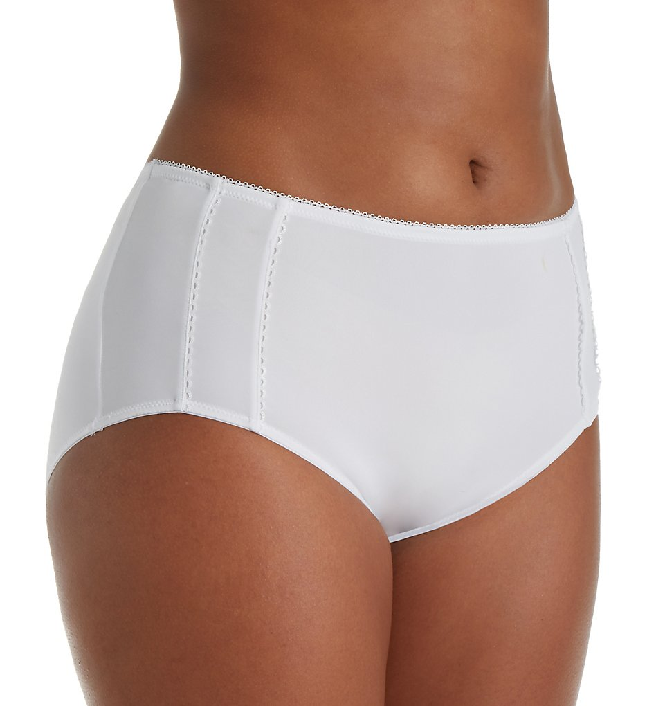 Leading Lady - Leading Lady 5800 Cooling Full Coverage Brief Panty (White 5)