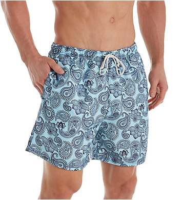 Leo Paisley Print Swim Trunk With Mesh Liner