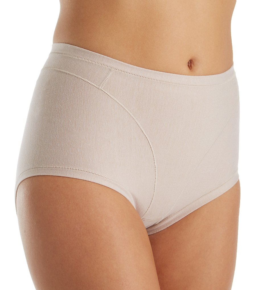 Leonisa : Leonisa 01214A High Cut Cotton Shaper Panty (Nude S)