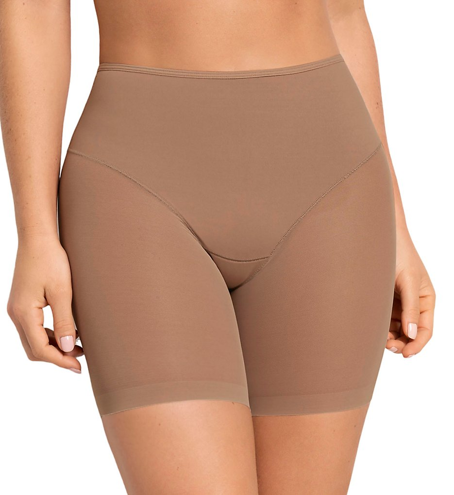Leonisa - Leonisa 012769 Truly Undetectable Sheer Compression Short (Natural 2 S)