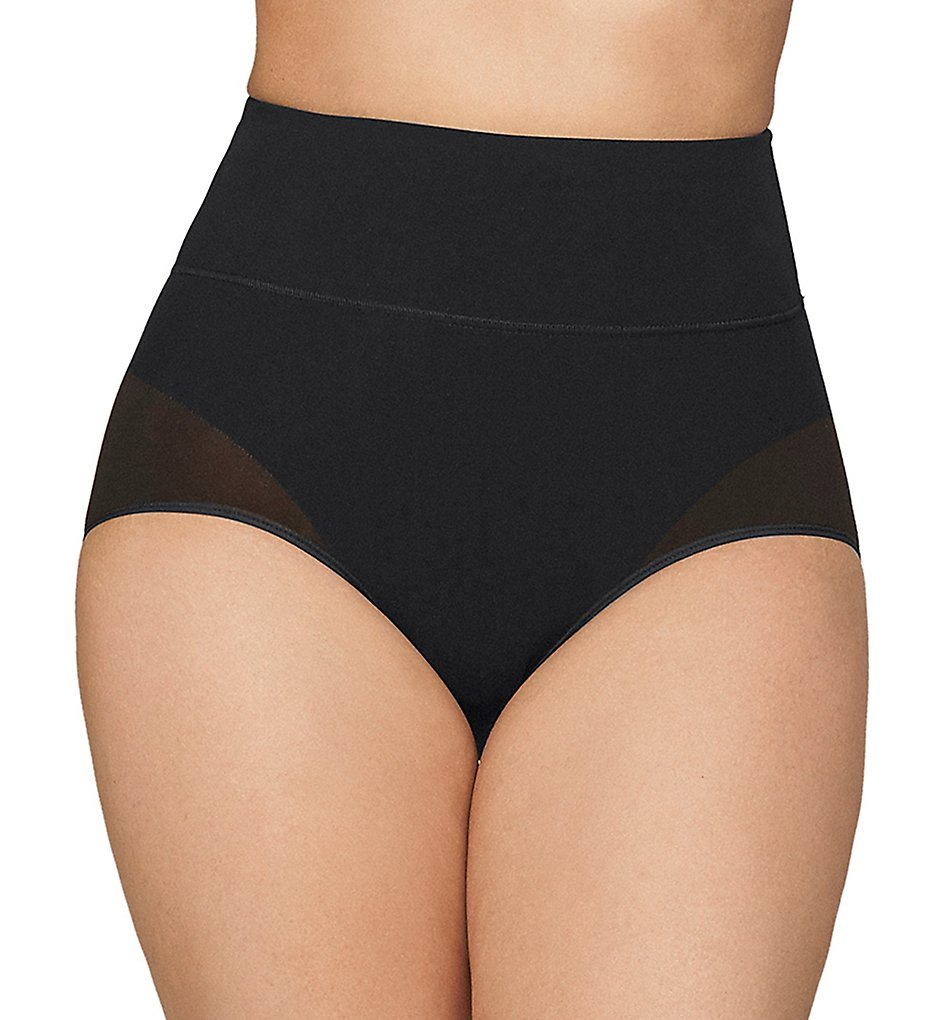 Leonisa - Leonisa 012841 Hi-Waist Control Panty (Black S)