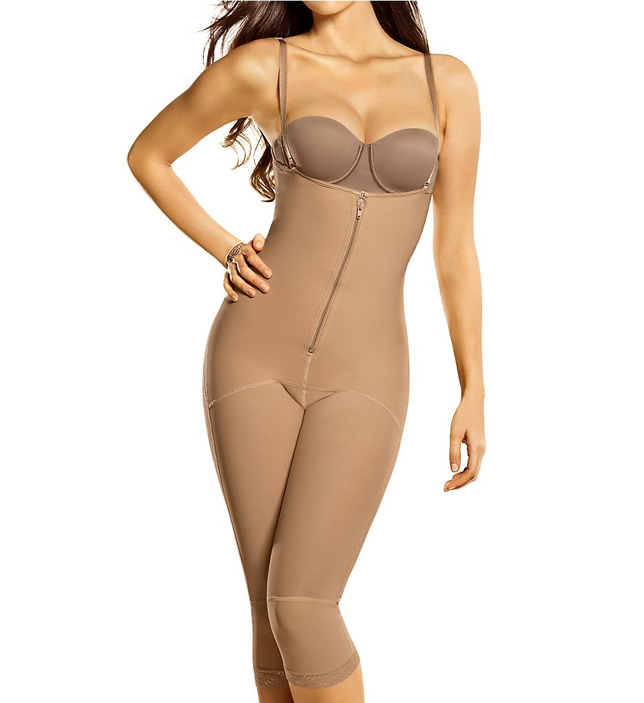 Leonisa - Leonisa 018471 Long Bodysuit Shaper (Natural Tan S)