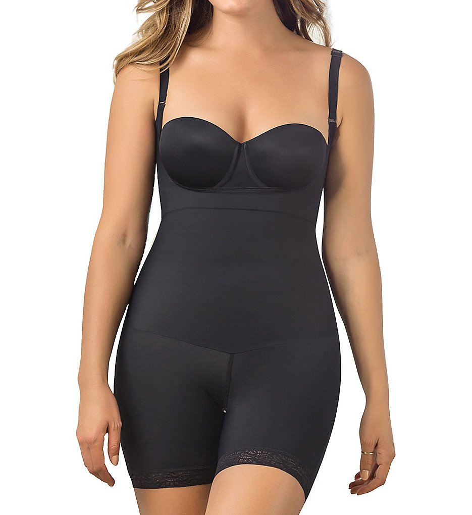 Leonisa >> Leonisa 018493 Undetectable Edge Shorty Shaper with Butt Lifter (Black S)