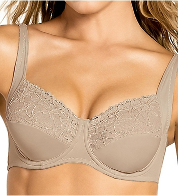 Leonisa Full Coverage Underwire Bra with Delicate Lace