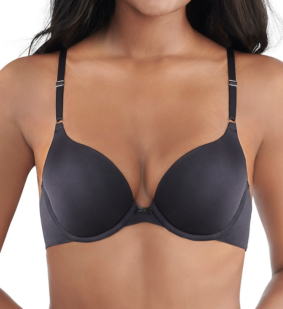 Lily Of France 131101T Ego Boost Tailored Push Up Bra (Solid Black)