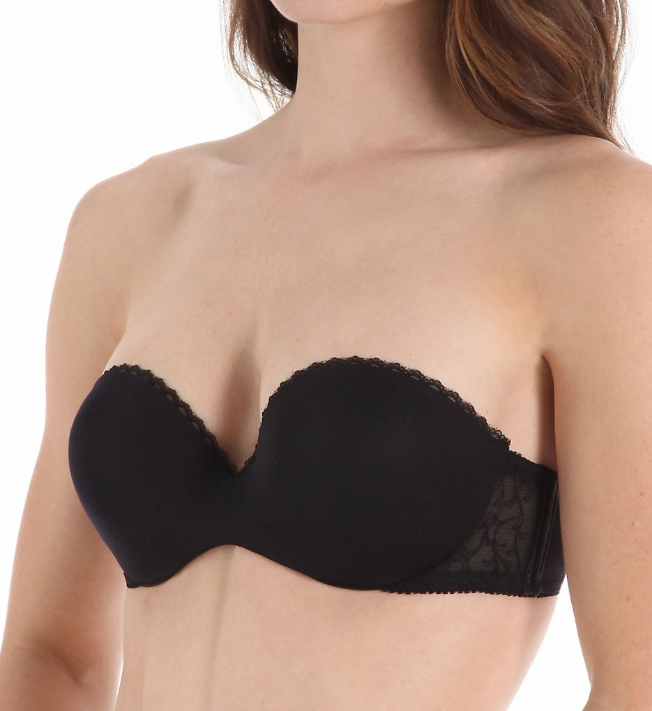 a4220c9d01 Lily of France GEL Touch Strapless Push up Bra 2111121 Black Sz 38d NWD.  About this product. Picture 1 of 2  Picture 2 of 2