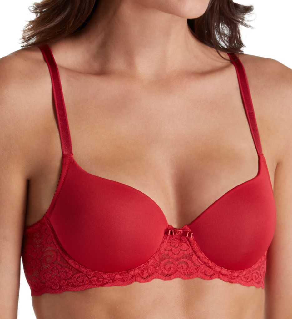 Lily Of France Smooth Cup Lace Overlay Convertible Bra