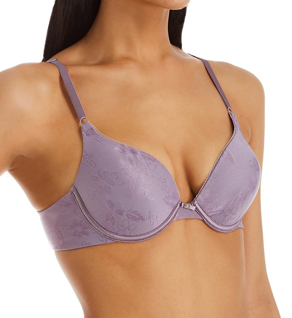 Lily Of France - Lily Of France 2131101 Ego Boost Jacquard Push Up Bra (Dusty Mauve Jacquard 34C)