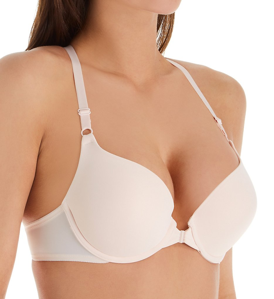 Lily Of France 2131102 Ego Boost Front Close Push Up Bra (Champagne)