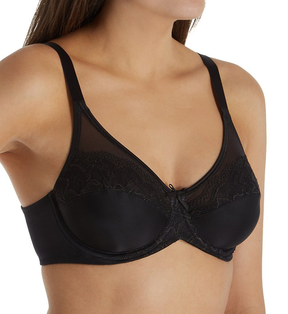 Lilyette LY0444 Ultimate Smoothing Minimizer Underwire Bra (Black)